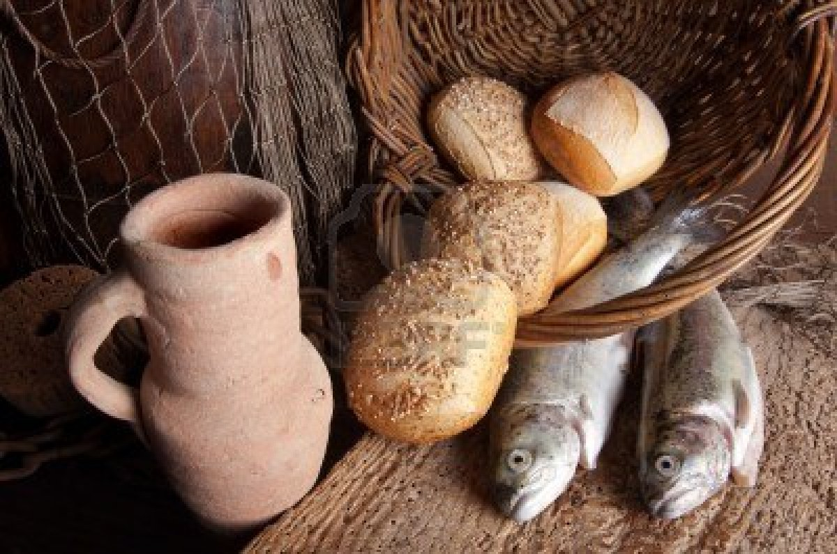 Jan 8 the babe from bethlehem house of bread has grown for Loves and fishes